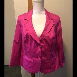 Lane Bryant cotton blend blazer pink